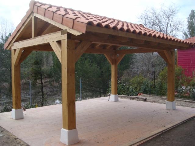 Reformaderas p rgolas de madera en valladolid y madrid valladolid valladolid - Estructuras de madera para tejados ...