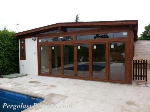 Pergolas y porches cenadores de madera en madrid - Construccion de porche de madera ...
