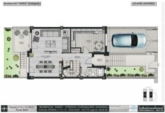 Planos de casas pareadas y este es el plano que corresponde al segundo piso de esta casa with - Obra nueva fuenlabrada ...