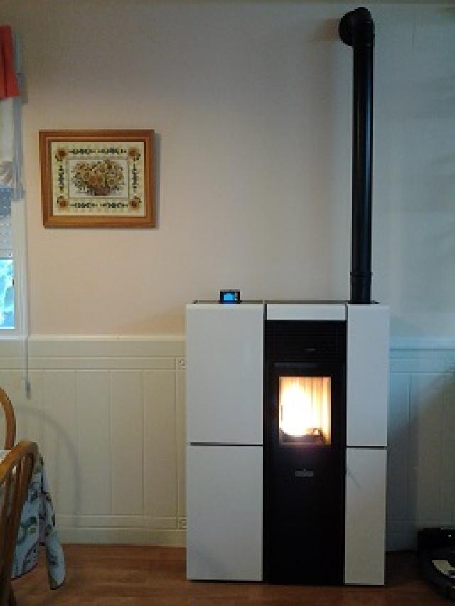 Se puede instalar una estufa de pellets en un piso elegant estufa pellet con chiemena with se - Se puede poner una chimenea en un piso ...