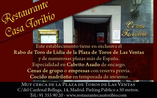 Restaurante casa toribio restaurante especializado en rabo de toro de lidia en madrid madrid - Casa de cantabria en madrid restaurante ...