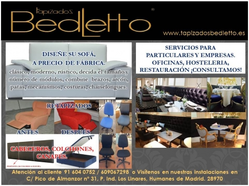 Tapizados bedletto empresa de tapizados de muebles - Empresas de muebles en espana ...