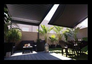 brisa soleada prgolas prgolas graduables techos mviles toldos prgolas de lamas de aluminio construccin